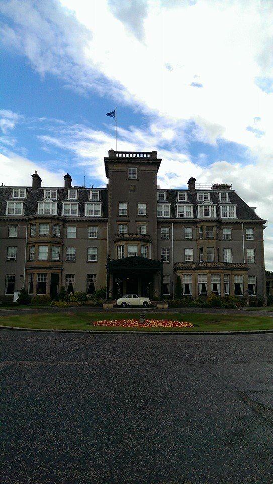 FJ Holden makes its debut at Gleneagles Hotel.
