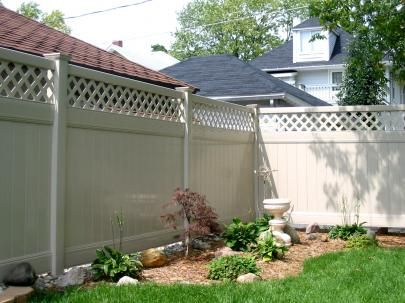 Courtyard Retreat Privacy Fence Vinyl Tongue And Groove