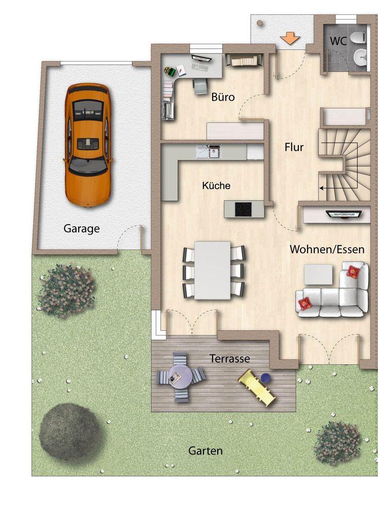 Haus bauen ideen grundriss einfamilienhaus  Die besten 25+ Haus skizze Ideen auf Pinterest | Bauplan haus ...