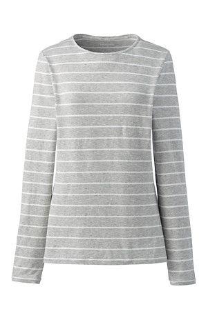 d6a128ed13e85 Women s Cotton Modal Striped Crew Neck T-shirt