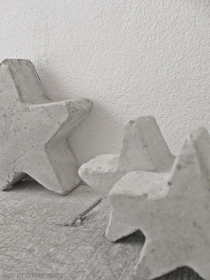 Christmas | Xmas | Jul | Noël. DIY: Decoration. Concrete Stars
