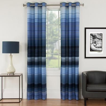 Mainstays Ombre Lined Curtain Panel Walmart Com Want