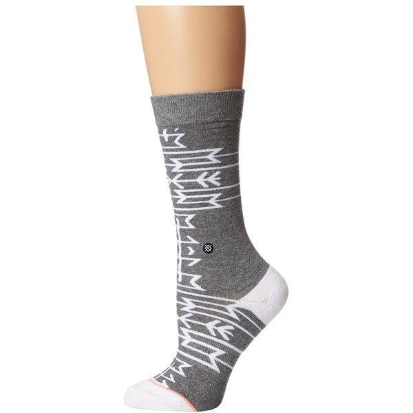 Stance Tribal Snowflake Women's Crew Cut Socks ($14) ❤ liked on Polyvore featuring intimates, hosiery, socks, seamless socks, cotton crew socks, cuff socks, stance socks and crew socks
