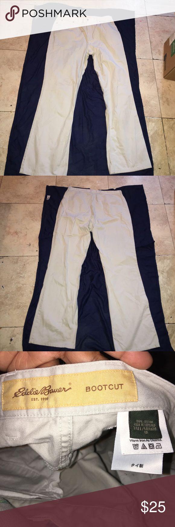 Plus Sized Eddie Bauer Khaki Pants 👖 Plus size Eddie Bauer boot cut khaki pants size 18 tall grand plus size Eddie Bauer Pants Boot Cut & Flare