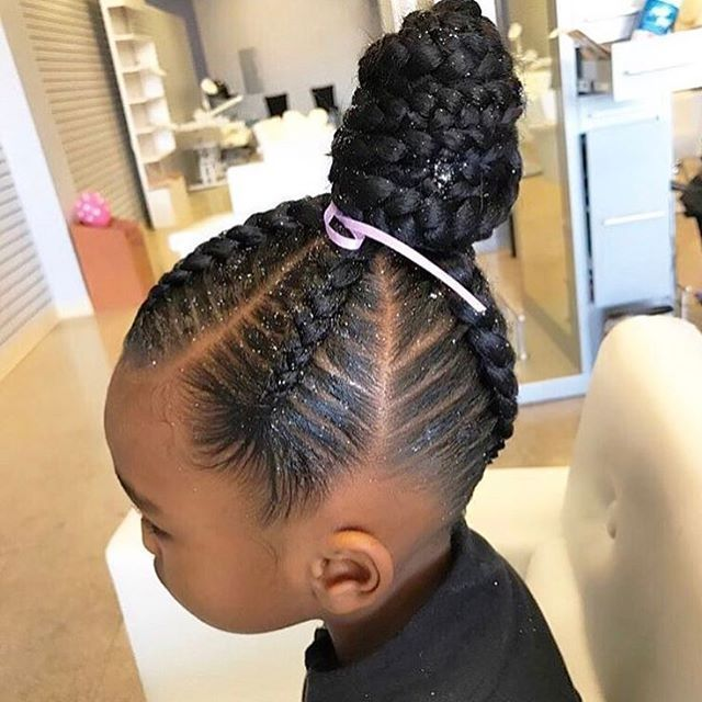 African American Braids With A Part For Girls Best 25 Kids Braided Hairstyles Ideas On Pinterest Hair Styles Cool Braid Hairstyles Kids Braided Hairstyles