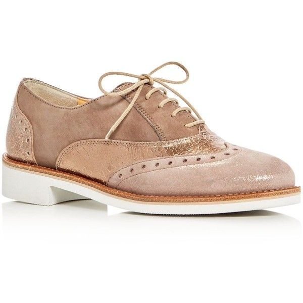 Paul Green Jayne Brogue Oxfords ($339) ❤ liked on Polyvore featuring shoes, oxfords, red multi, red oxfords, brogue shoes, brogue oxford, leather oxfords and leather brogues