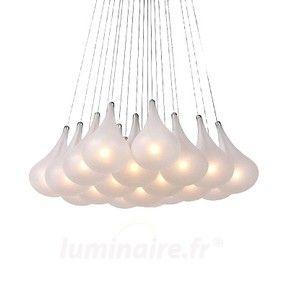 Imposante suspension à 19 lampes TEARS 6054076