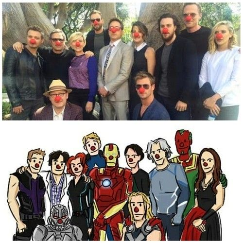 Look at these people. These are some of my favorite people. (Nobody is surprised about where RDJ is positioned amongst the group.)