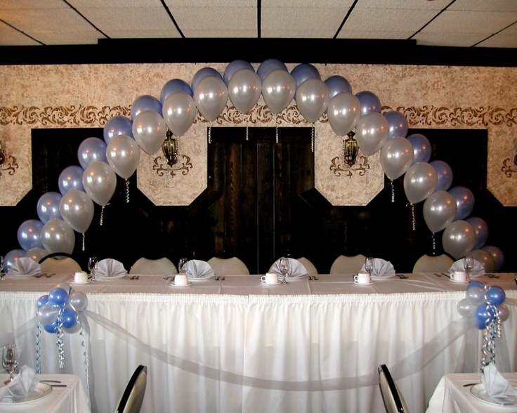 Decorating Ideas > Pearl Arch Head Table Backdrop Decor By Balloons By Design  ~ 222501_Birthday Party Ideas Madison Wi