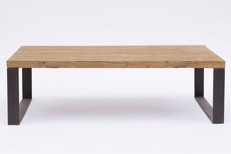 Mesa de centro con sobre en madera natural y patas en hierro negro. Ref. SQ750A medidas 130x70xh.45PVP 670,00€ Ref. SQ750B medidas 150x80xh.45 PVP 750,00€