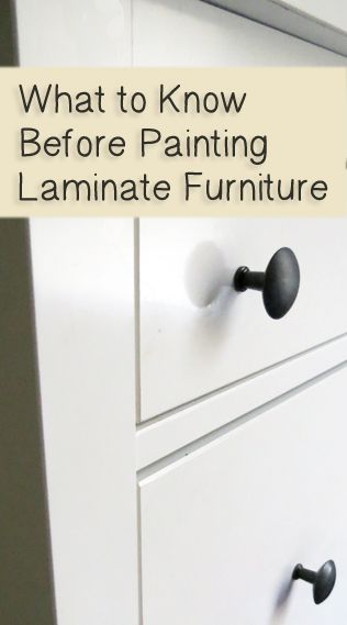 I've been asked by lots of people if it's ok to paint laminate furniture. It definitely is doable.  It's not my ideal and I wouldn't buy a piece of laminate furniture to paint, but if there was something I already had that needed a facelift, it's definitely much cheaper than …