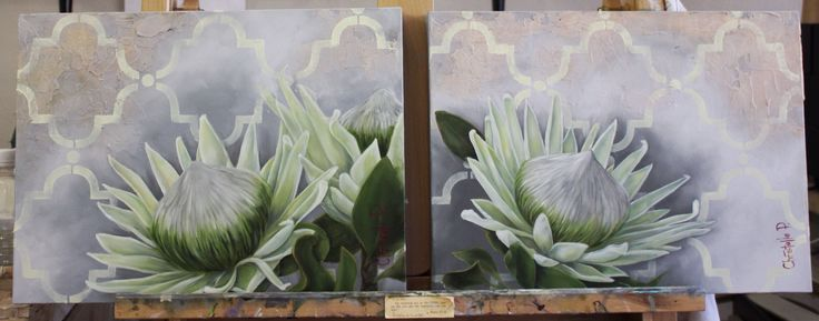 Proteas available, contact me if interested, www.christellepretoriusart.co.za