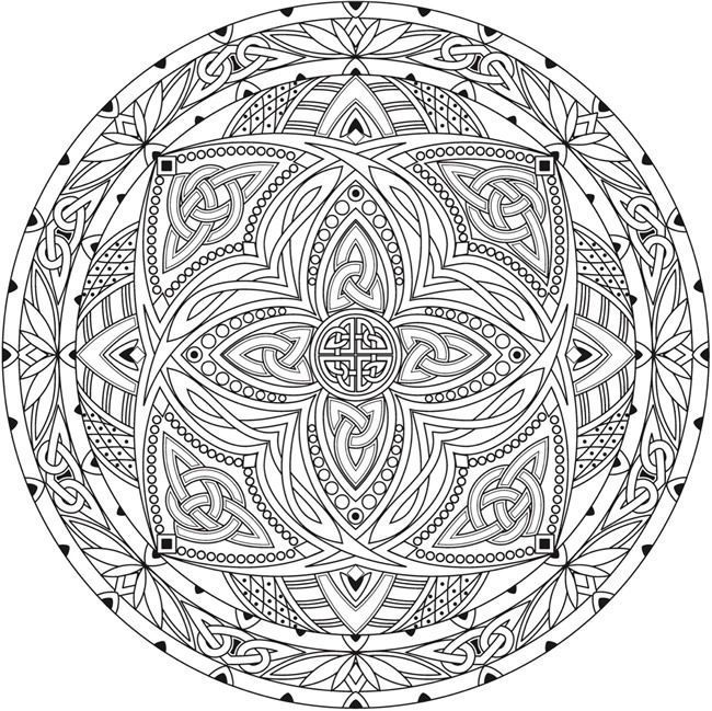 Free Printable Coloring Page From Dover Publications Creative Haven Celtic Mandalas Book
