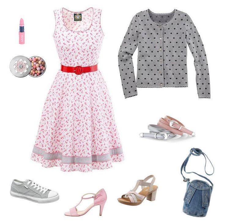 Ľudový motív - oblečenie pre moletku - kvietkované šaty pre moletku, bodkovaný sveter pre moletku