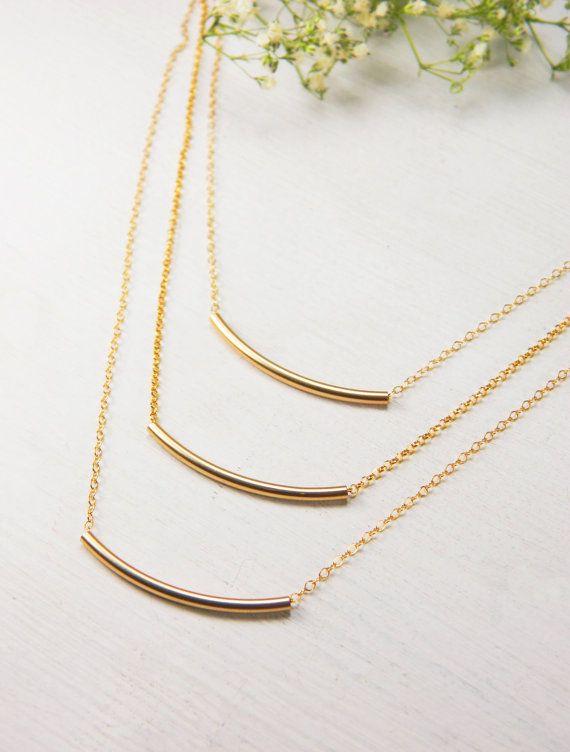 Tubes necklace / Layered tubes necklace / by BarakaCustomJewelry