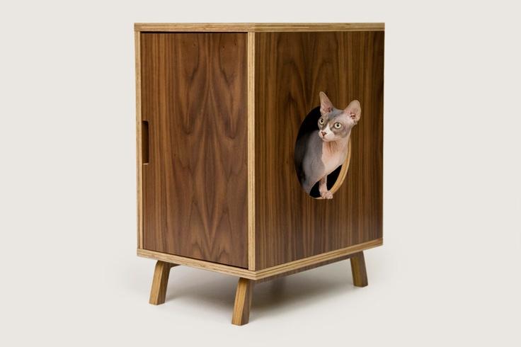Mid Century Modern Cat Furniture Litter Box Cover
