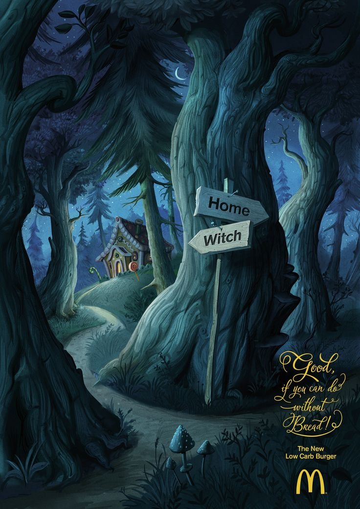 Read more: https://www.luerzersarchive.com/en/magazine/print-detail/mcdonalds-austria-63648.html McDonalds Austria Ad for McDonald's new low carb burger evoking the story of Hansel and Gretel and the role bread plays in the German fairytale: With the help of the signposts in the ad the children wouldn't have needed to leave breadcrumbs to find their way back home (and could thus have done without carbs). Tags: McDonalds Austria,Thomas Tatzl,Andreas Spielvogel,DDB, Vienna,Jakob…