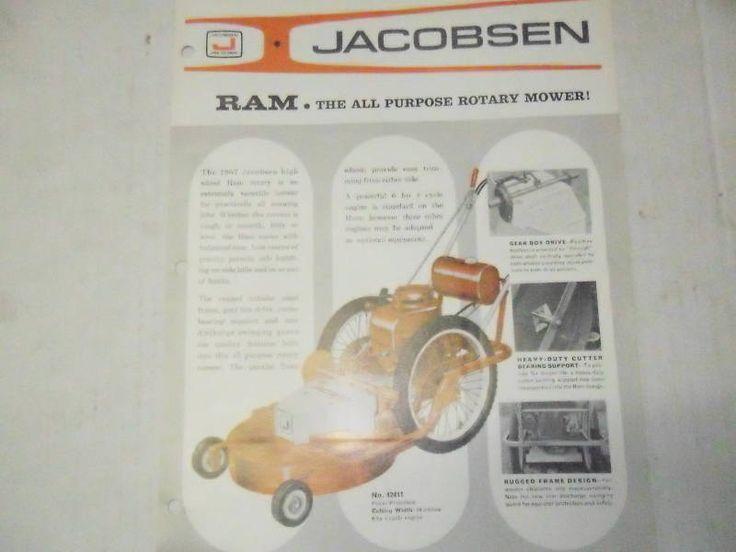 Jacobsen Ford Ram Rotary Mower Sales Brochure 1967 | Home & Garden, Yard, Garden & Outdoor Living, Outdoor Power Equipment | eBay!