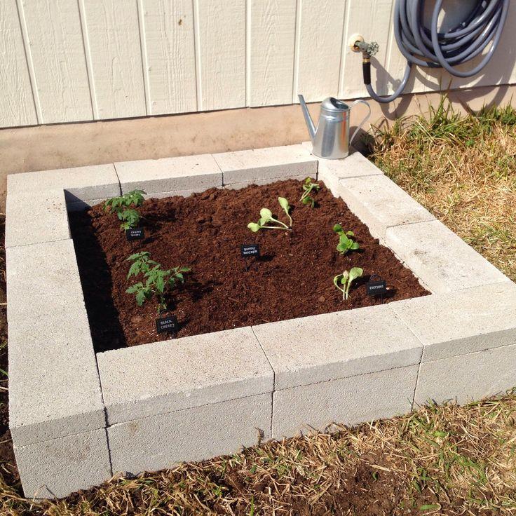 Concrete Block Garden Bed: 34 Best Images About Cinderblock Ideas On Pinterest