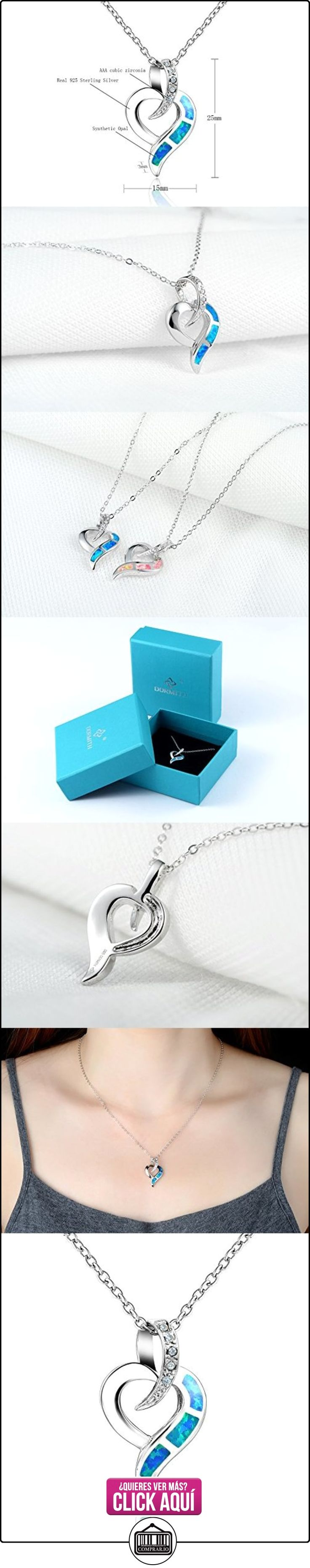 Dormith® Plata de ley 925 Ópalo azul sintético collares para las mujeres Corazón colgante de collar rodio moda joyas  ✿ Joyas para mujer - Las mejores ofertas ✿ ▬► Ver oferta: http://comprar.io/goto/B00T7G38XO
