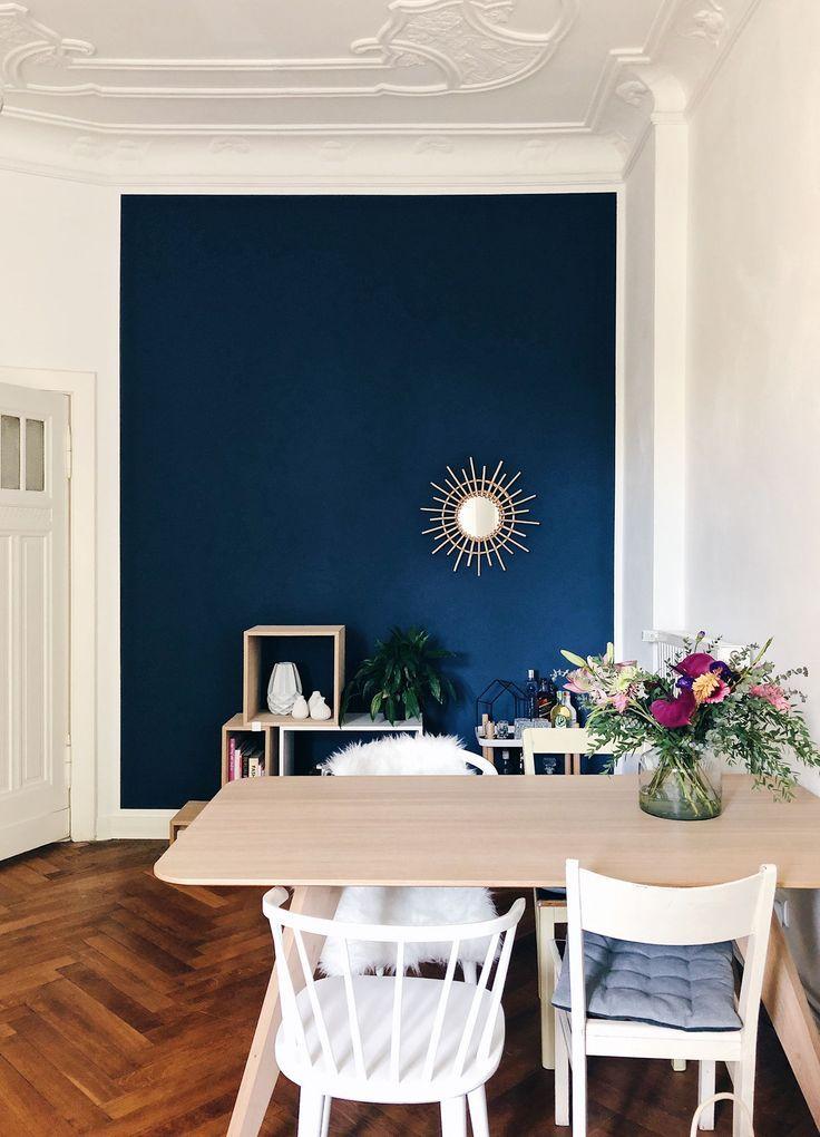 Wandfarbe Petrol im Ess- & Wohnzimmer von www.kolo…