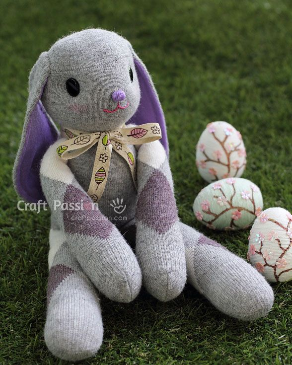 DIY long ears sock bunny #diy #craft #toys                                                                                                                                                                                 More