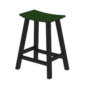 Polywood Contempo Green Plastic Patio Barstool Chair 2011-Fblgr