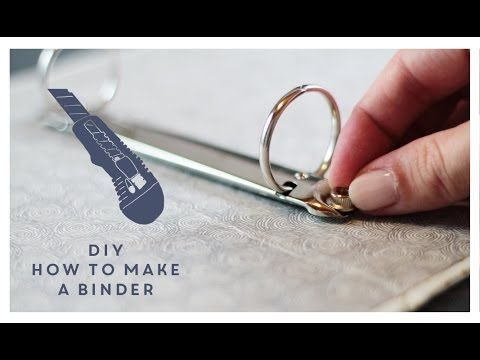 DIY How to make a binder from scratch - so want to try this!! This is awesome!