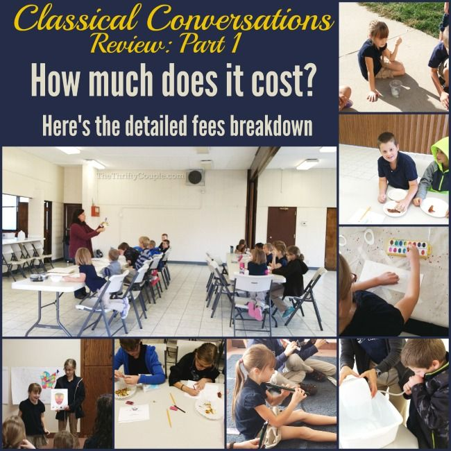 How Much Does Classical Conversations Cost. Detailed fees, tuition, registration, books and more miscellaneous fees.