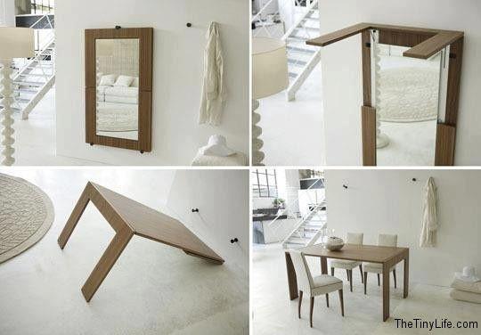 Espejo + mesa plegable