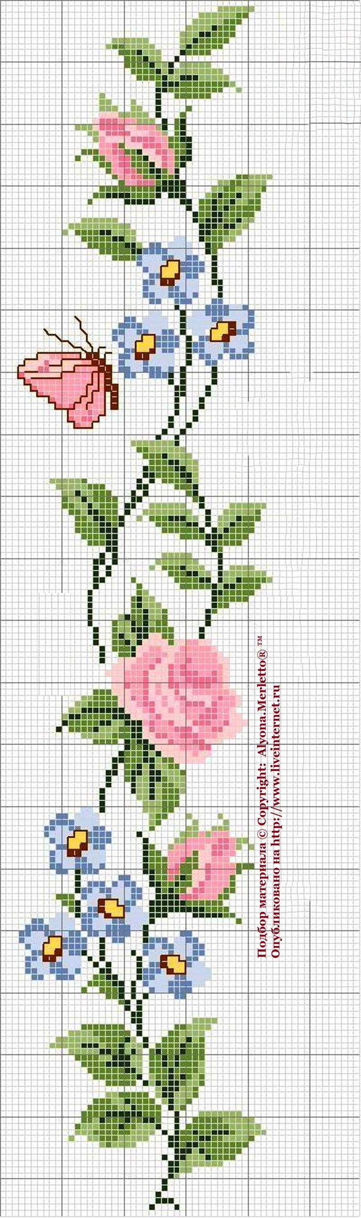 Роза - королева цветов ...14схем для вышивки крестом