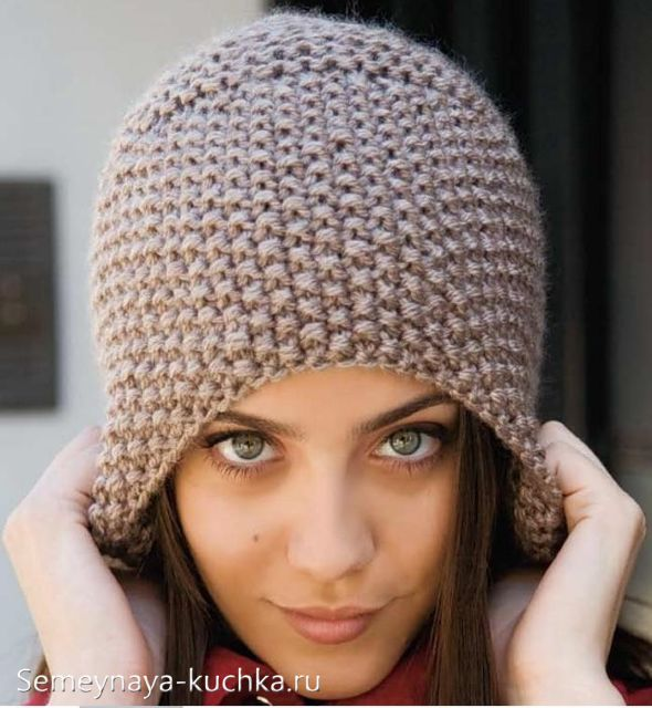 общий принцип вязки женских шапок и беретов (как крючком, так и на спицах)