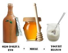 Maschera capelli secchi e sfibrati - miele, olio evo, yogurt