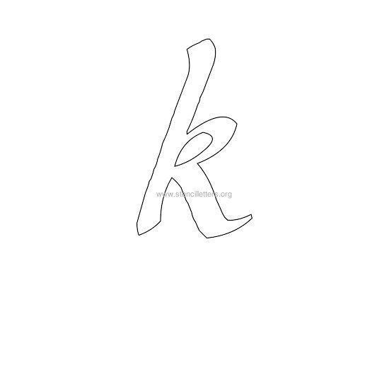 Lowercase Letter K lowercase calligraphy ...