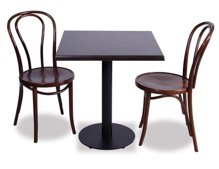 129 metz black steel restaurant table base