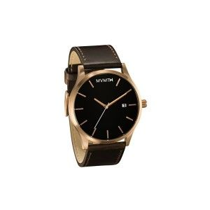 MVMT Watches Rose Gold Case with Brown Leather Strap Men's Watch This watch is absolutely gorgeous. The dark band compliments the rose gold and black face. It is a  high quality quartz watch.