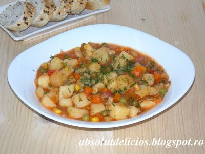 Absolut Delicios - Retete culinare: TOCANITA DE CARTOFI CU LEGUME MEXICANE