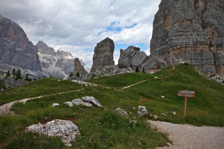 Come have a close look at this wonder, without a doubt one of the most beautiful, powerful and astonishing gifts from our planet… Are they rocks or clouds? Are they true or the products of a dream? - Dino Buzzati, The Glass Mountains, 1956 | Cinque Torri (BL)  Photo: Giorgia Genova  #Dolomiti #Dolomites