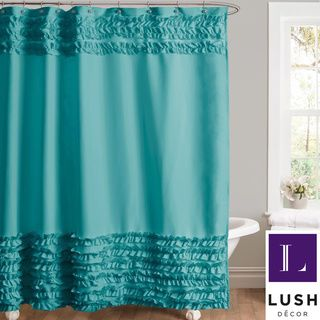 Lush Decor Skye Turquoise Shower Curtain | Overstock.com Shopping - Great Deals on Lush Decor Shower Curtains
