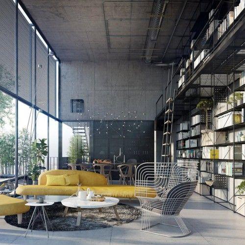 Industrial Open Space / Tony Antoun Camere soppalco