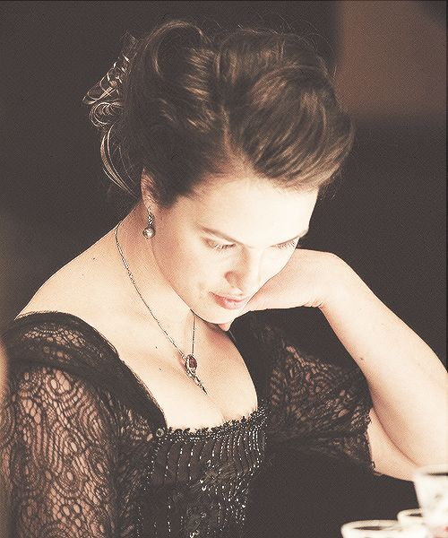Jessica Brown-Findlay as Sybil Crawley.