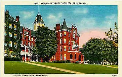 Bristol Virginia VA 1930 Virginia Intermont College Collectible Vintage Postcard