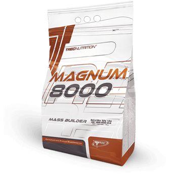 """MAGNUM 8000: Zaawansowany """"HARD GAINER"""" 13% białka z Kreatyną i Olejem MCT   Wysoceenergetyczny produkt dla hardgainerów Monstrualny wzrost masy ciała 12 g kreatyny i 6 g oleju MCT w porcji dziennej"""