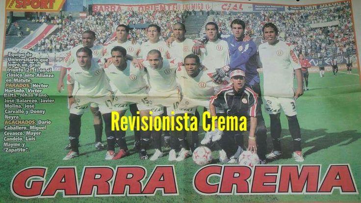Clásico alianza 1 - #Universitario 2  (06/05/2007). Goles U: Darío Caballero y Donny Neyra. Póster del diario Todo Sport..