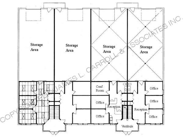 20 x 40 warehouse floor plan