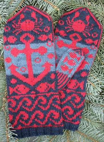 Anchors Away Mittens via Friday Finds | Threadpanda. Super cute!