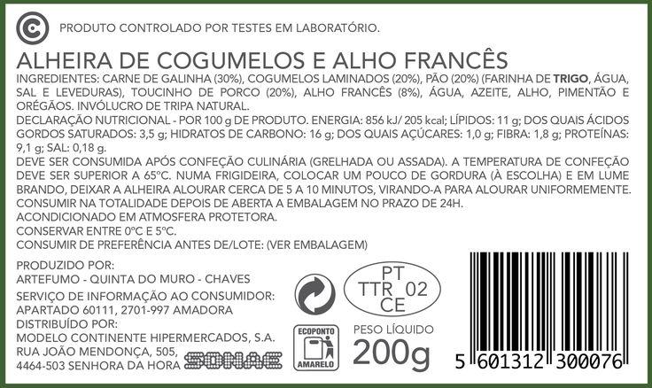 Alheira de Cogumelos e Alho Francês - Continente - Continente Online