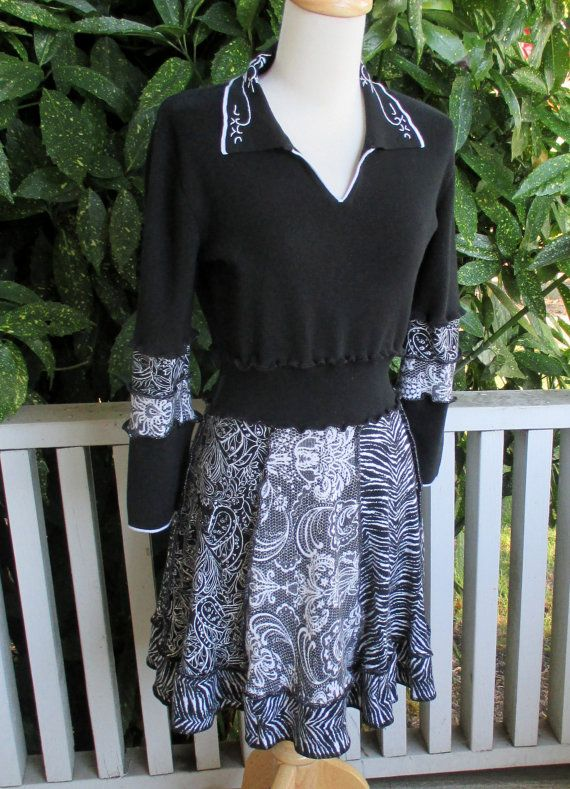 Cotton dress from recycled clothing!