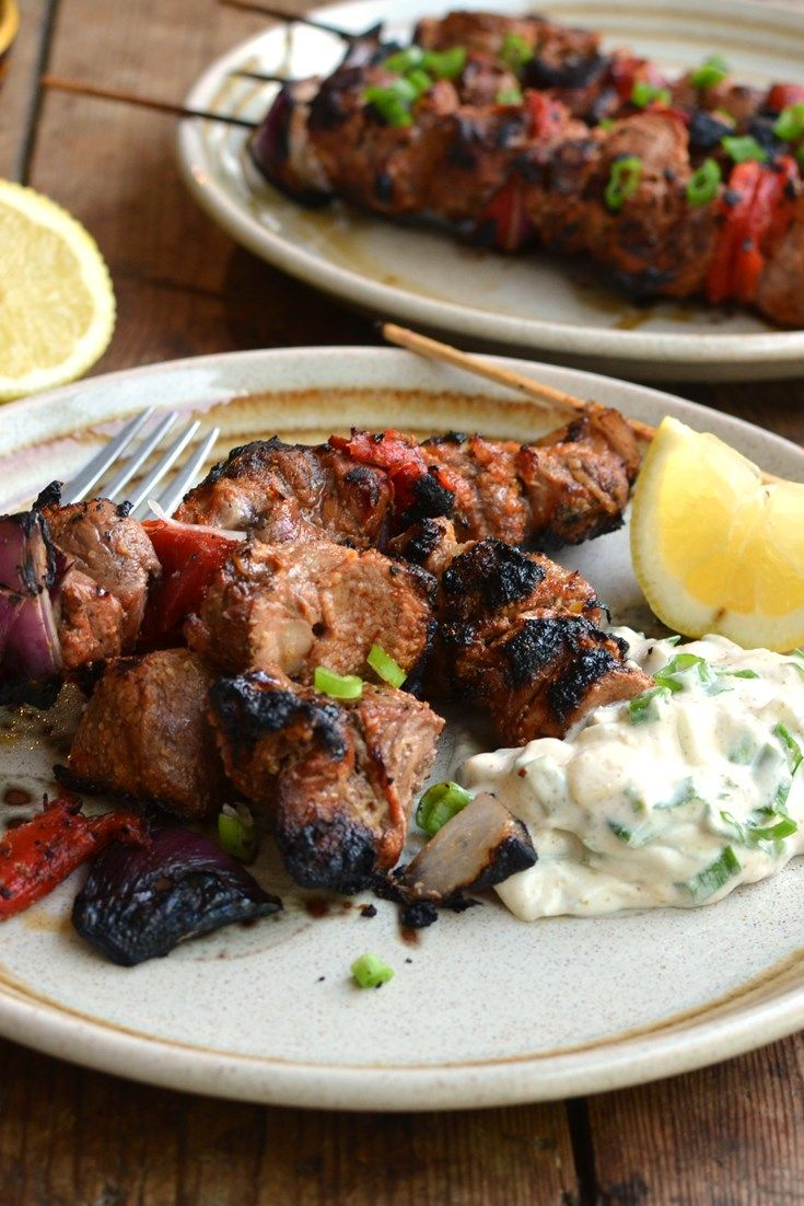 Karen Burns-Booth serves up a summery South American churrascaria-inspired easy lamb skewers recipe