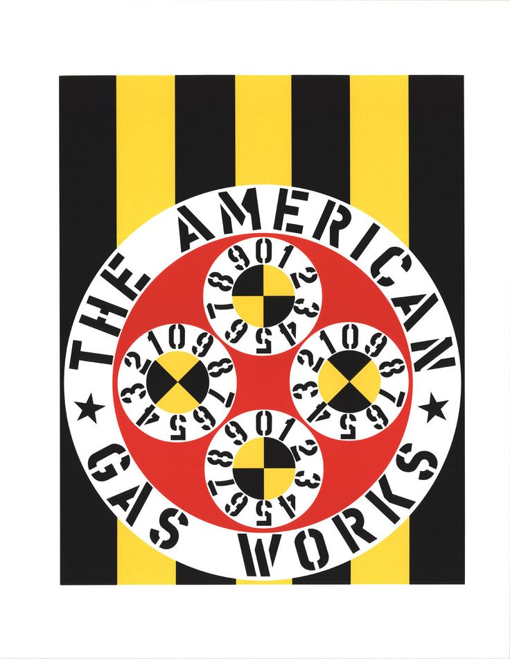 Robert Indiana-The American Gas Works-1997 Serigraph   #FreedomOfArt  Join us, SUBMIT your Arts and start your Arts Store   https://playthemove.com/SignUp